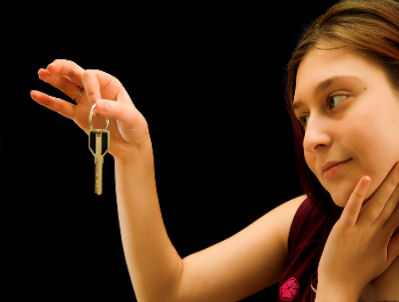 Girl with Key
